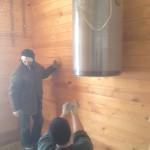 Отопление бани газовым котлом
